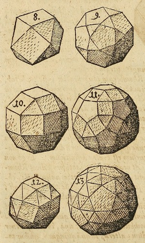 Kepler's drawings of the last 6 Archimedean solids