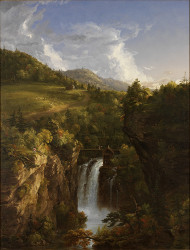 Genesee Scenery (Mountain Landscape with Waterfall) 1847