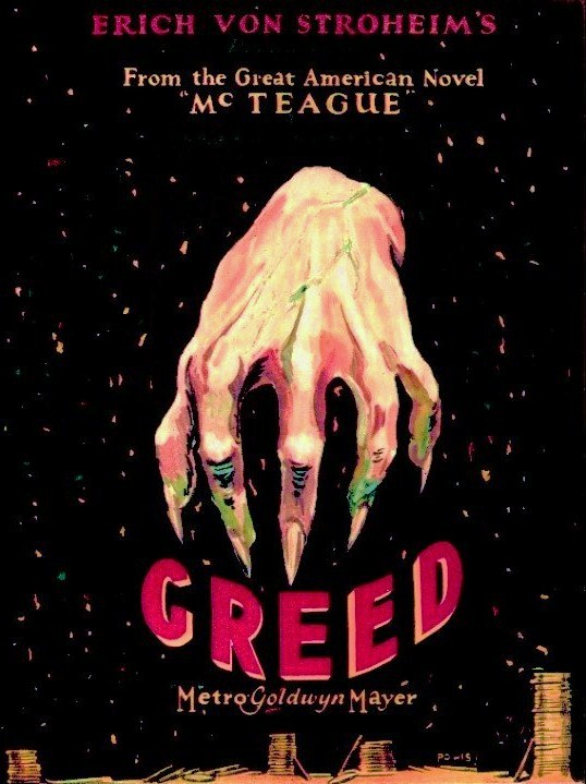 Poster for the film Greed (1924)