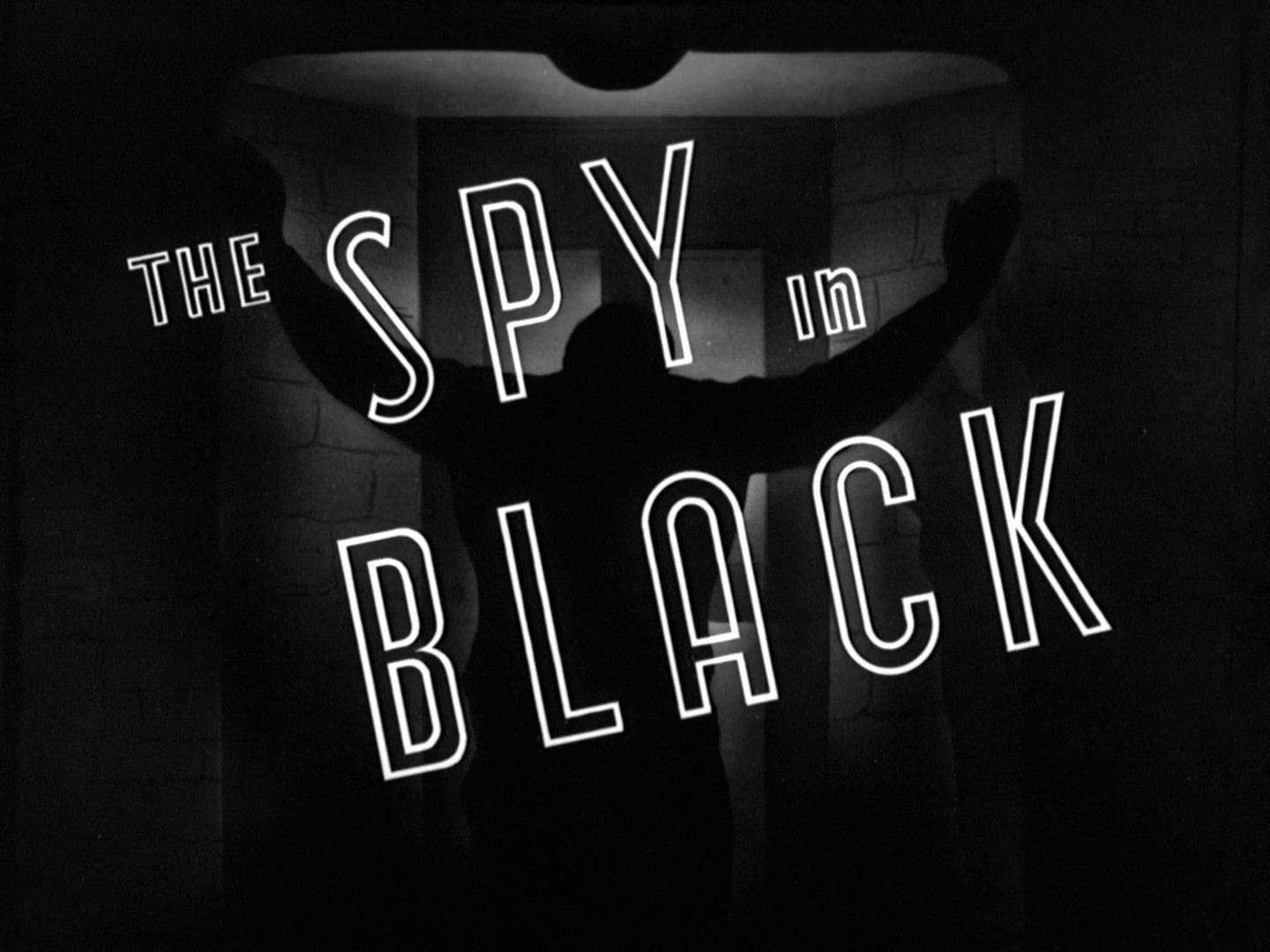 Title card for The Spy in Black (1939)